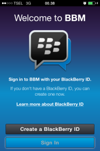 Sign In BBM