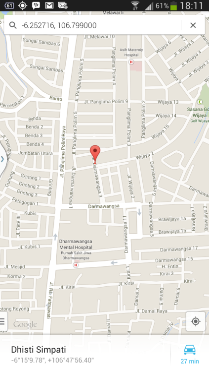 Peta Polsek Jakarta Selatan